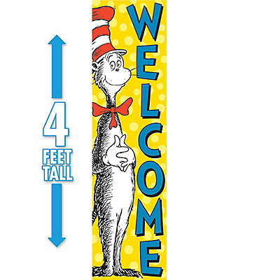 Cat in the Hat Welcome Sign 4ft