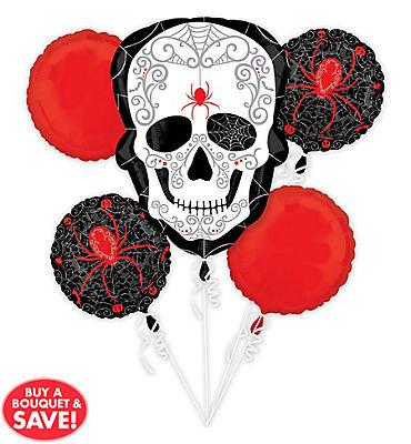 Spider Skull Balloon Bouquet 5pc