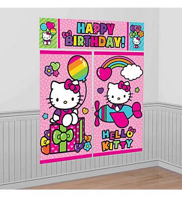 Rainbow Hello Kitty Scene Setter