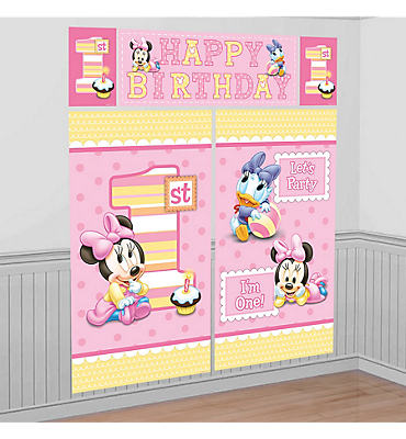 Minnie Mouse 1st Birthday Scene Setter