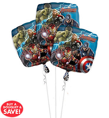 Avengers Age of Ultron Balloon Bouquet 3pc