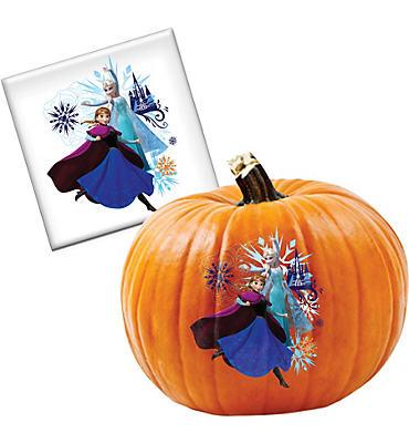 Anna & Elsa Pumpkin Decorating Tattoo - Frozen