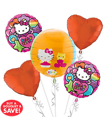 Hello Kitty Balloon Bouquet 5pc - Orbz