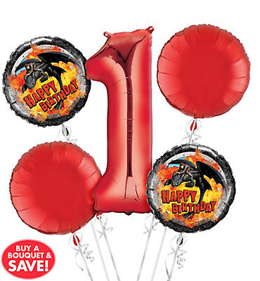 How To Train Your Dragon 1st Birthday Balloon Bouquet 5pc