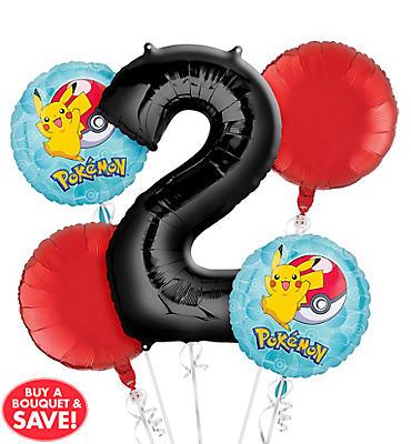 Pokemon 2nd Birthday Balloon Bouquet 5pc