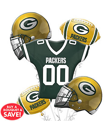 Green Bay Packers Balloon Bouquet Deluxe 5pc