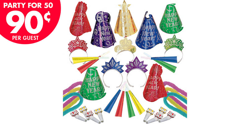 Kit For 50 - Evening Sparkle - Colorful New Year's Party Kit