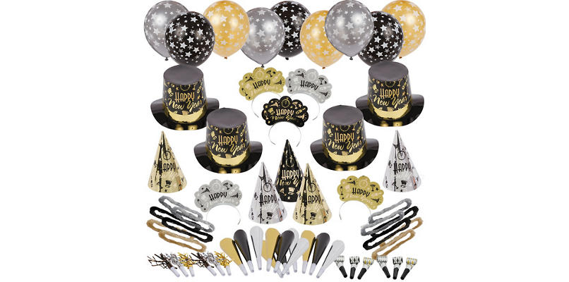 Kit For 100 - Black Tie Affair New Years Party Kit