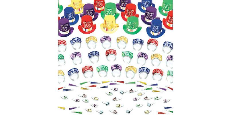 Kit For 50 - Elegant Celebration - Colorful New Year's Party Kit