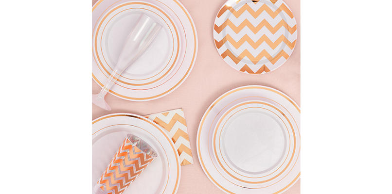 White Rose Gold Premium Tableware