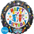 Happy Birthday Balloon - Singing Candles