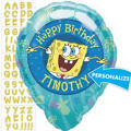 SpongeBob Personalized Foil Balloon 18in