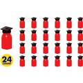 Red Grad Cap Bubbles 24ct