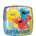 Foil Happy Birthday Sesame Street Balloon 18in