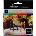 Color Flame Birthday Candles 2in 12ct