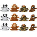 Mini Plush Animals Prize Pack 12ct