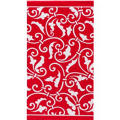 Red Ornamental Scroll Hand Towels 16ct