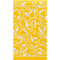 Sunshine Yellow Ornamental Scroll Hand Towels 16ct