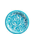 Caribbean Blue Ornamental Scroll Dessert Plates 8ct