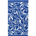 Royal Blue Ornamental Scroll Hand Towels 16ct
