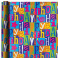 Jumbo Happy Birthday Fun Gift Wrap