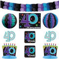 The Party Continues 40th Birthday Room Decorating Kit 10pc