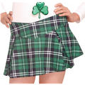 Adult Green Plaid Mini Skirt