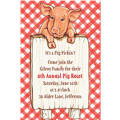 Pig with Sign Custom Invitation