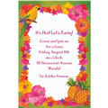 Custom Hawaiian Flower Border Invitations