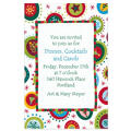 Holiday Objects in Circles Custom Invitation