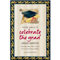 Custom Black Grad Portrait Graduation Invitations