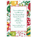 Pretty Ornament Pattern Custom Christmas Invitation
