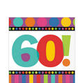 Dots & Stripes 60th Birthday Lunch Napkins 16ct