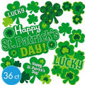St. Patricks Day Premium Cutouts 36ct