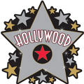 Big Hollywood Star Cutout 15in