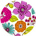 Floral Chic Dinner Plates 8ct