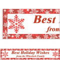 Elegant Red Custom Christmas Banner