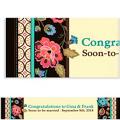 Elegant Jacquard Custom Banner 6ft