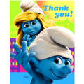 Smurfs Thank You Notes 8ct