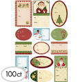 Country Kraft Adhesive Gift Tags 100ct
