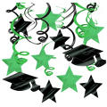 Green Graduation Swirl Decorations 30ct