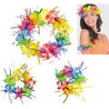 Rainbow Tinsel Head & Wrist Lei Set 3pc