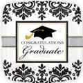 Foil Black & White Graduation Balloon 18in