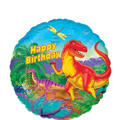 Foil Prehistoric Dinosaurs Birthday Balloon 18in