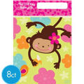 Monkey Love Favor Bags 8ct