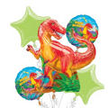 Prehistoric Dinosaurs Balloon Bouquet 5pc