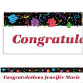 Custom Colorful Grad Party Graduation Banner 6ft