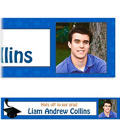 Royal Blue Congrats Grad Custom Photo Banner 6ft
