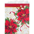 Extra Large Poinsettia Joy Gift Bag 18in