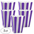 Purple Popcorn Favor Boxes 5ct